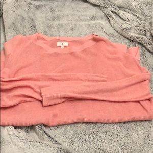 Pink light sweater